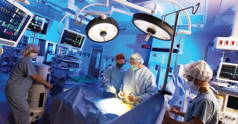 A veszprémi Megyei Kórház műtőiről