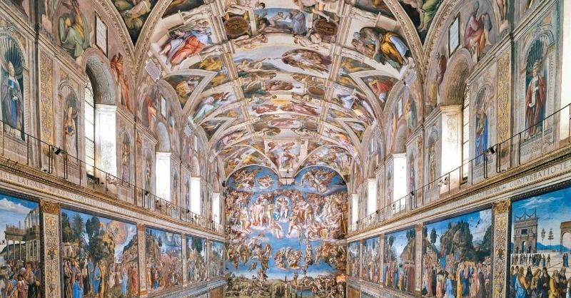 LED világítás a Sixtus-kápolna freskói számára