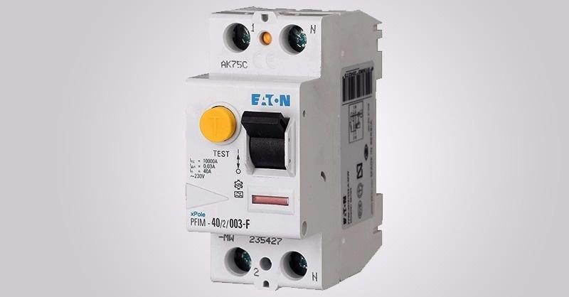F típusú áram- védőkapcsolók az Eaton-től