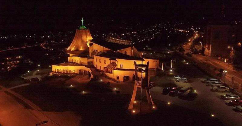 Templom-díszvilágítás Gazdagréten