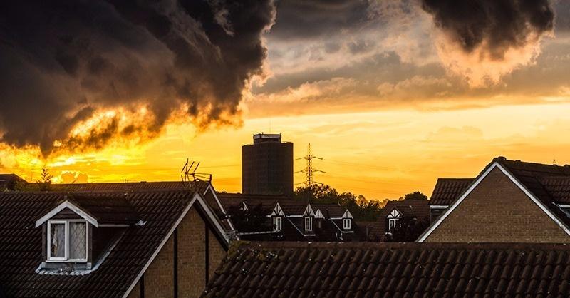 A tető éghetőségének meghatározása