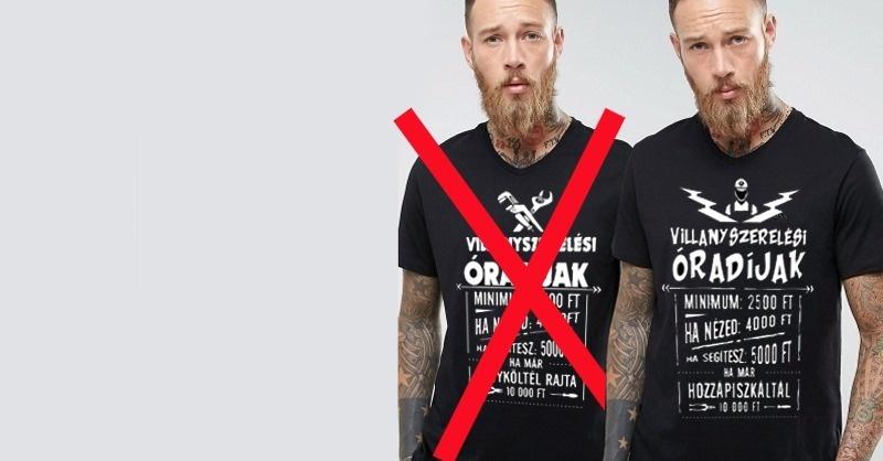 Hamisítják a villanyszerelős pólókat!