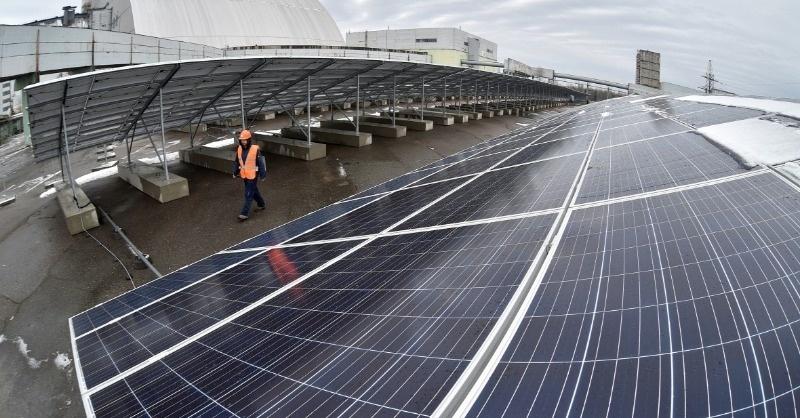 Tényleg megépült az új ukrán napelemfarm Csernobilban