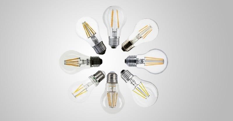 E27-es fejű, normálizzó alakú, 60 W-os izzó kiváltására alkalmas filament LED-fényforrások