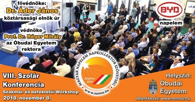 VIII. Szolár Konferencia – szakmai és befektetői workshop