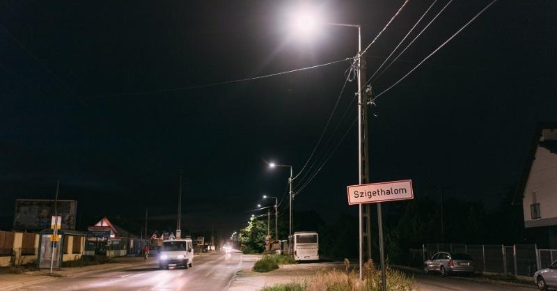A LED-nek hála, új fényben ragyog Szigethalom