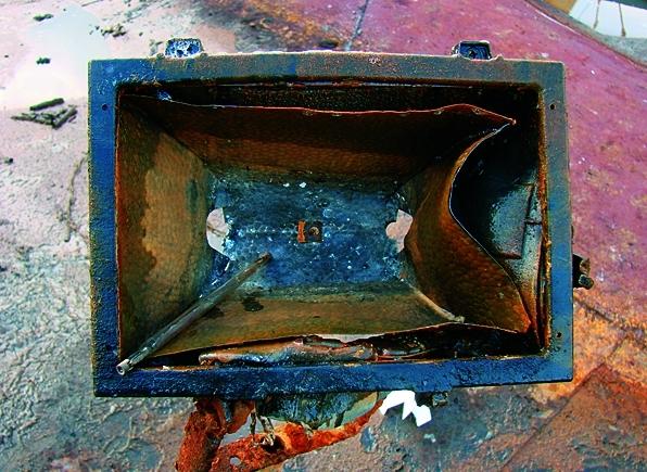 9. ábra: A fényvető szemből fényképezve.