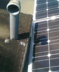 5. ábra (5a) Az árnyékhatás egy másik szemszögből és más színárnyalattal, ám a két cella hőmérséklete itt is 100 °C feletti.