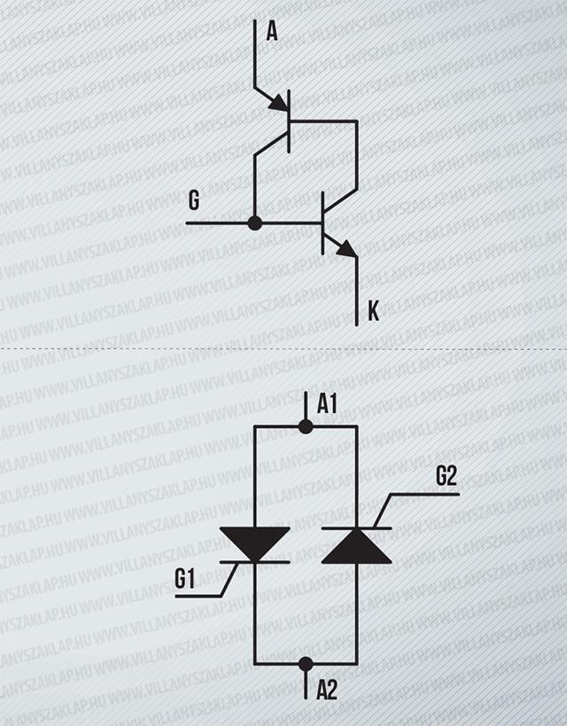 Tirisztor vezérlés kapcsolási rajz