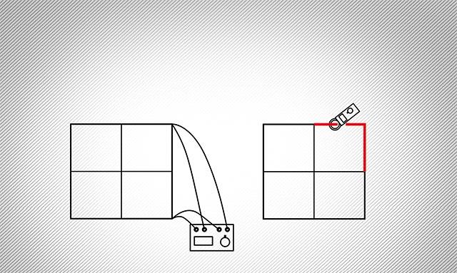 A szabványos és a lakatfogós mérés elvi összehasonlítása. (1. Szabványos mérés, 2. lakatfogós mérés)