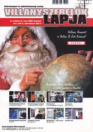 Villanyszerelők Lapja 2003. december