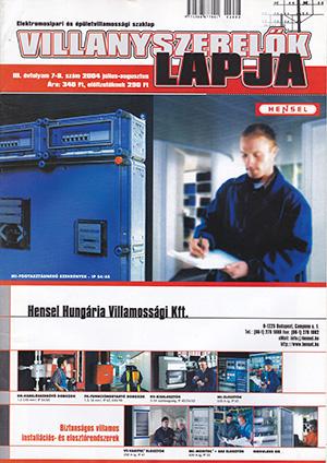 Villanyszerelők Lapja 2004. július-augusztus