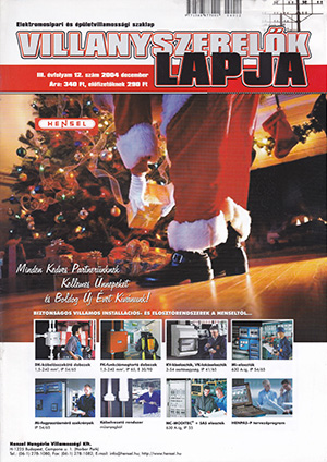 Villanyszerelők Lapja 2004. december