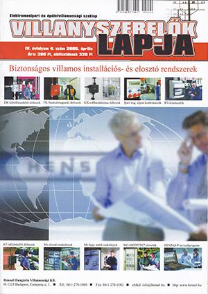 Villanyszerelők Lapja 2005. április